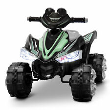 Kids Ride On 4-Wheel 2 Speed ATV Car 12V Battery Electric ASTM F963, Light Green