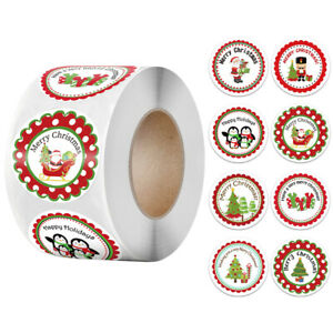 500pcs Merry Christmas Snowman Tree Decor Stickers Wrapping Gift Box Label T JV