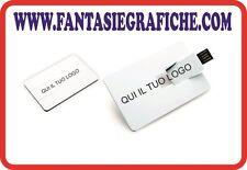 Stampa personalizzata Memoria USB PEN DRIVE CARD CREDITO SCHEDA 16 GB