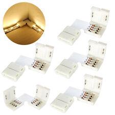 5 x 5050 10mm L forma conector RGB LED tira 90 grados esquina conectores