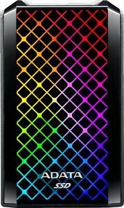 ADATA SE900G 512GB USB 3.2 C External RGB SSD - Black, ASE900G-512GU32G2-CBK