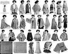 Shawl Book Patterns Knit Crochet Capes Gibson Girl 1910