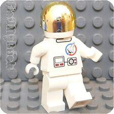 M044B Lego Custom Launch Command Astronaut Minifigure w/ Chrome Gold Visor  NEW