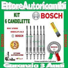 6 CANDELETTE BOSCH AUDI A4 (8K2 B8, 8K5 B8) 2.7TDI 120 140KW 2007-> 0250403009