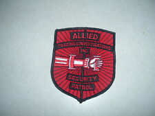 PATCH SECURITY ALLIED TRACING INVESTIGATIONS INC SECURITY PATROL 4 3/4 INCHES