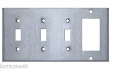 Westgate SSC47 Four Gang with Toggle Switch and Decorative / GFCI Wallplate