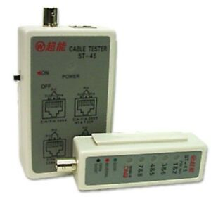 RJ45 Network/Ethernet Cable/Cord Tester 10/100/1000 Cat5e/Cat6, BNC Video Test