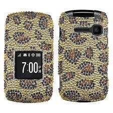 For Virgin Mobile Kyocera Kona S2151 Bling Hard Case Snap On Phone Cover Leopard