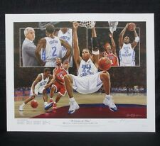 UNC Tarheels North Carolina 2005 Championship Alan Zuniga Basketball Lithograph