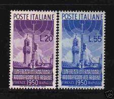 """ITALIE 1950  Y&T 561/62 """"CONFERENCE RADIO"""" NEUFS xx TTB"""