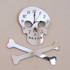 Skull & Crossbones Clock - Acrylic Mirror (Several Sizes Available)