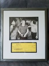 Three Stooges Moe Howard signed check with picture