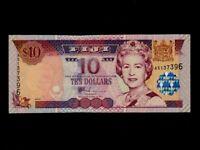 Fiji Islands:P-106,10 Dollars,2002 * Queen Elizabeth II * UNC *