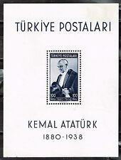 Turkey Death of Kemal Ataturk Souvenir Sheet 1939 MNH #841 CV $70