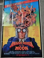 AMAZON WOMEN ON THE MOON  (VIDEO DEALER  40 X 27 POSTER!, 1980S) SYBIL DANNING