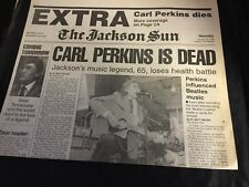 4 Carl Perkins Jackson Sun Newspapers About His Illness And Death 1997-98