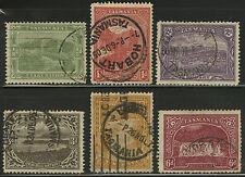 Tasmania   1905-08   Scott #  102-107    USED Part Set - Perf 12