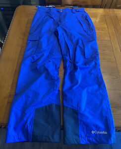 Columbia Slope Style Pants XM8007 Blue Omni Heat Ski Snowboarding NEW NWT Sz Med