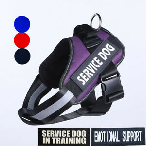 Reflective Pet Service Dog Vest Chest Plate Harness Emotional Therapy Patches