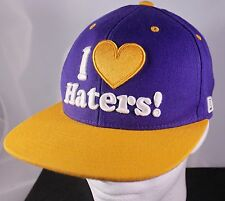 I Love Haters! DGK Baseball Cap Golf Hat Skateboard Snapback Motivation on Bill