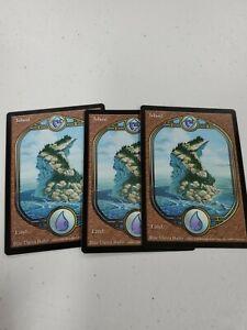 Magic the Gathering MTG 3x Island Unglued LP
