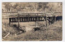 BRIDGE AT BERRYTON: Kansas USA postcard (C11835)