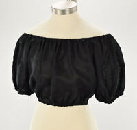 SIR THE LABEL Womens Black MARLO Linen Off the Shoulder Linen Top Size 1 NWT