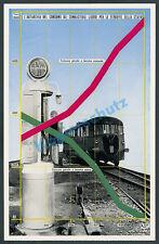 La pubblicità Fiat Ferroviaria Locomotiva diesel nafta BENZINA rotaie stazione di servizio - 1941
