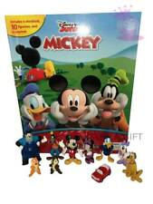 MICKEY MOUSE BUSY BOOK - STORY 10 FIGURES AND A PLAYMAT BRAND NEW UK STOCK