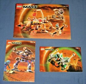 Lot Vintage Lego LIFE ON MARS Building Instructions Manuals Book 7311 7313 7316