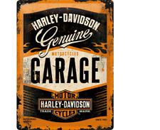 Nostalgic-art letrero de metal 30x40cm Harley-Davidson garaje