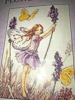 Flower Fairies Lavender Fairy DMC Printed Cross Stitch Kit (C)K4718 5 x 7
