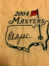 Phil Mickelson Signed 2004 Masters Flag JSA Letter Of Authenticity Golf PGA