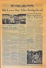 Stars and Stripes Apr 16 1945 - 9th Loses One Elbe Bridgehead