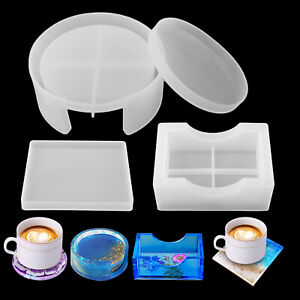 Silicone Resin Casting Mold Coaster Epoxy Mould DIY Craft Tray Mat Tool Holder