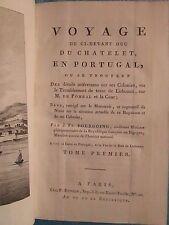 BOURGOING : VOYAGE EN PORTUGAL, sur les colonies, 1798. 2 tomes en 1 vol., carte