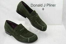 DONALD J PLINER  Womens 6 M Green Suede Italian Mock Penny Loafers Shoes   G15