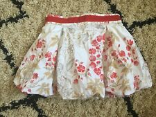 KIDS TODDLER GIRLS AUTHENTIC BURBERRY PUFF SKIRT WHITE RED GOLD FLORAL SIZE 4Y