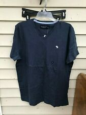 Abercrombie & Fitch Mens Short Sleeve Shirt T-Shirt blue V-NECK SIZE XL