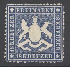 Württemberg Mi. Nr. 20y* ungebraucht Befund Heinrich BPP 3.800 Euro