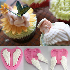 3D Silicone Tray Chocolate Mold Baby Angel Wing Kitchen Fondant Cake Mould