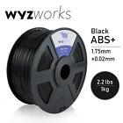 WYZwork 3D Printer Premium ABS Filament 1.75mm 1kg/2.2lb - Black