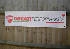 Ducati Performance Banner Motorcycle Workshop Garage sign
