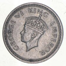 SILVER - WORLD Coin - 1945 India 1 Rupee - World Silver Coin *424