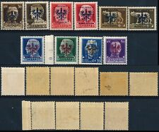 SLOVENIA 1943 - 1945, GERMAN OCCUPATION LOT OF 10 MINT STAMPS, SEE..   #A119