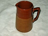 A Vintage Australian Bendigo Pottery Brown Leadless Glaze 1/2 Pint Jug