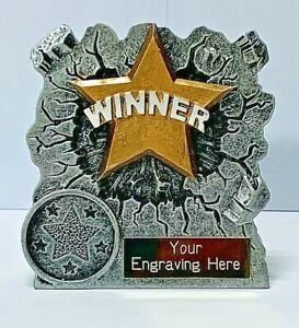 Winner 3D Trophy + FREE LASER Engraving + FREE P&P