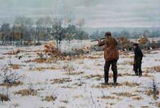 vintage art by A.B. Frost Hunters in winter