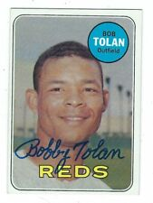 Autographed Bobby Tolan Cincinnati Reds 1969 Topps card #448 w/Coa
