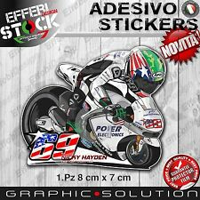 Adesivo Sticker HAYDEN NICKY 69 MOTO GP TEAM TRIBUTE MEMORY MASCOTTE H.QUALITY